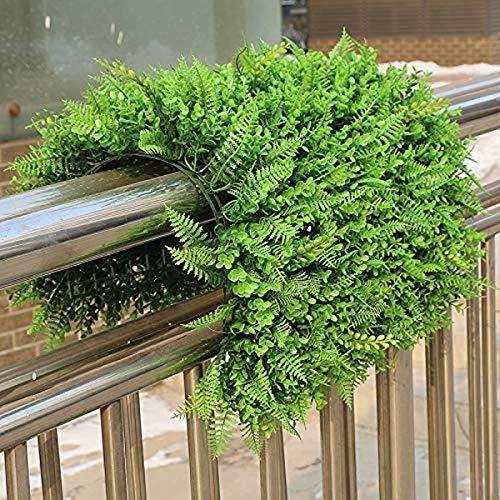 SZ Plancha Alfombra de Césped Artificial 60 * 40cm Jardín Vertical Decoración Interior Pared Hierba (EU Vivid)