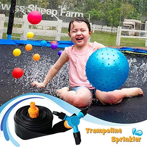 KITOART Trampoline Sprinkler for Kids, Trampoline Water Sprinkler, Outdoors Water Games for Cool Summer, Trampoline Accessory for Yard Games, Outdoor Toys for Boys, Girls [39 ft]