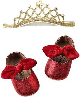 [Yochyan_子供靴] 幼児シューズ 女の子 サンダル ベビーシューズ カジュアル ファッション スパンコール ソフトボトム 可愛い 柔らかい 蝶結び 無地 歩く練習 滑り止め 履き脱ぎやすい おしゃれ 日常着 プリンセスシューズ 靴+ヘアバンド