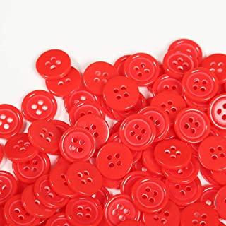 Red Bobble Buttons 20mm x 4 Buttons for £2.10