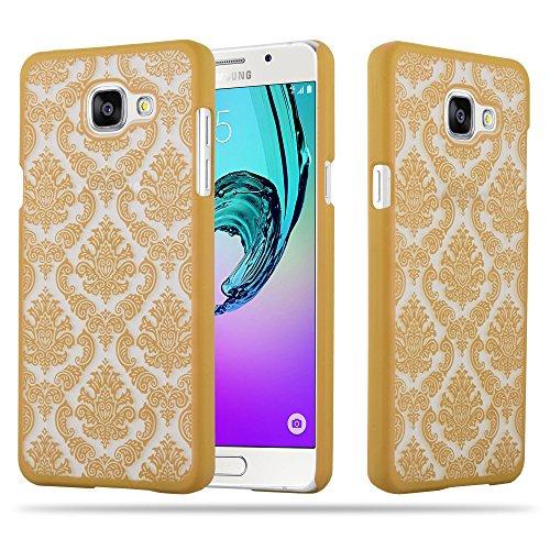 Cadorabo Samsung Galaxy A5 2016 Hardcase Hülle in Gold Blumen Paisley Henna Design Schutzhülle – Handyhülle Bumper Back Hülle Cover
