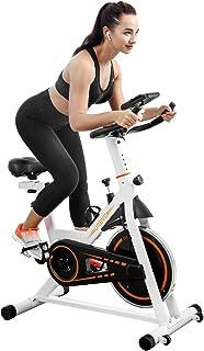 دوچرخه ثابت دوچرخه سواری UREVO ثابت ، دوچرخه ورزشی دوچرخه چرخش ، دوچرخه های تناسب اندام برای تمرین دوچرخه سواری تمرینی خانگی با کوسن راحت صندلی