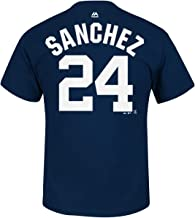 Majestic Gary Sanchez New York Yankees Youth Navy Name and Number Player T-Shirt