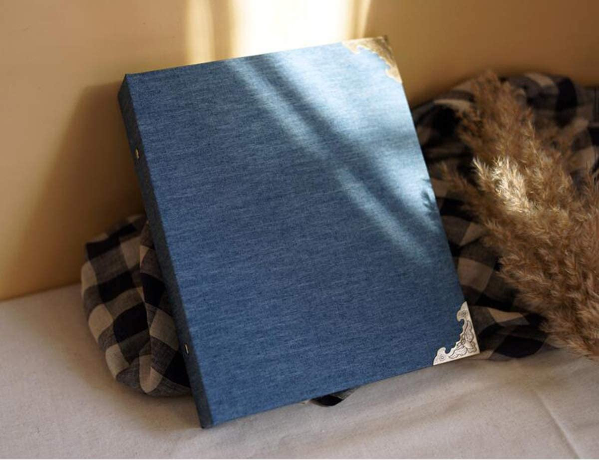 low-pricing XUXUWA Photo Album with Linen Cover 6 x Today's only Bookshelf-Albums for 4