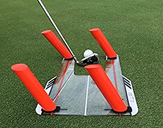 JZ Golf Slice and Hook Corrector with 4 Angled Rods - Swing Trainer - Trap The Ball Training - Swing Path Aid