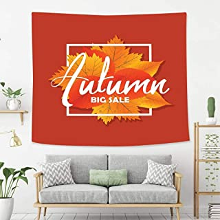 Josephine Joe Wall Tapestry Wall Hanging Autumn New Season of Sales Deals and Offer Wall Art Decoration for Bedroom Living Room Dorm, Window Curtain Picnic Mat,60x50in