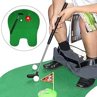 YASSUN Toilet Golf, Mini Potty Golf Set, Bathroom Golf Game, Indoor Golf Practice for Men/Children Gifts