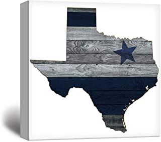 wall26 - Dallas Cowboy Star Wood Background - Canvas Art Wall Decor - 24