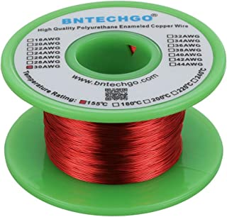 BNTECHGO 30 AWG Magnet Wire - Enameled Copper Wire - Enameled Magnet Winding Wire - 4 oz - 0.0098