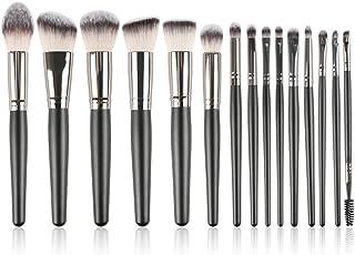 15 Pack Makeup Brush, Eyeshadow, Eyebrows,Foundation Brush Professional , Portable Makeup Tools (black)