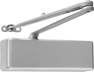 Door Closer Commercial Adjustable 1-6 Power Delayed Close Backcheck Latch Speed Powerful Cast Iron Construction Door Close...