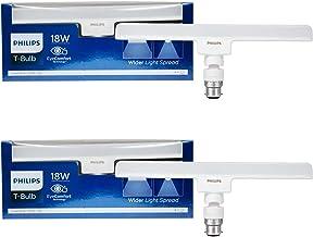 Philips T-Bulb 18 Watt Base B22 (Pack of 2) (Cool White) (Brightness of Tubelight in Plug & Play Solution)