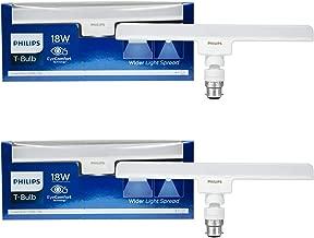 Philips T-Bulb Base B22 18-Watt LED Bulb (Pack of 2, Cool Day Light) (Small)