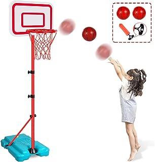 N/C Kids Basketball Hoop Stand Adjustable Height 2.9 ft -6.2 ft Indoor Basketball Hoop Outdoor Toys Outside Backyard Games...