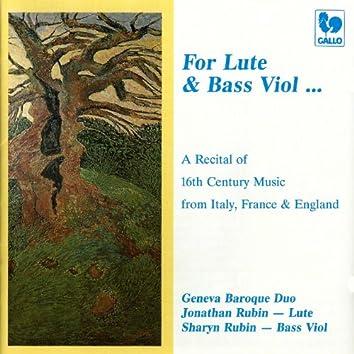 Renaissance Music Recital, from Italy, France & England