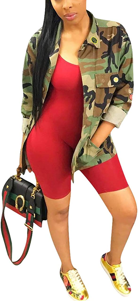 cnFaClu Womens Fashion Military Camouflage Co BF Letters Printed Regular dealer half