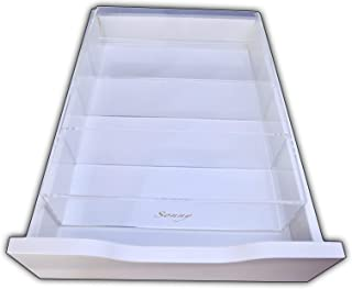 Fits Ikea Alex 4 Compartment Makeup Brush Acrylic Drawer Organizer Divider Tray Clear by Sonny Cosmetics