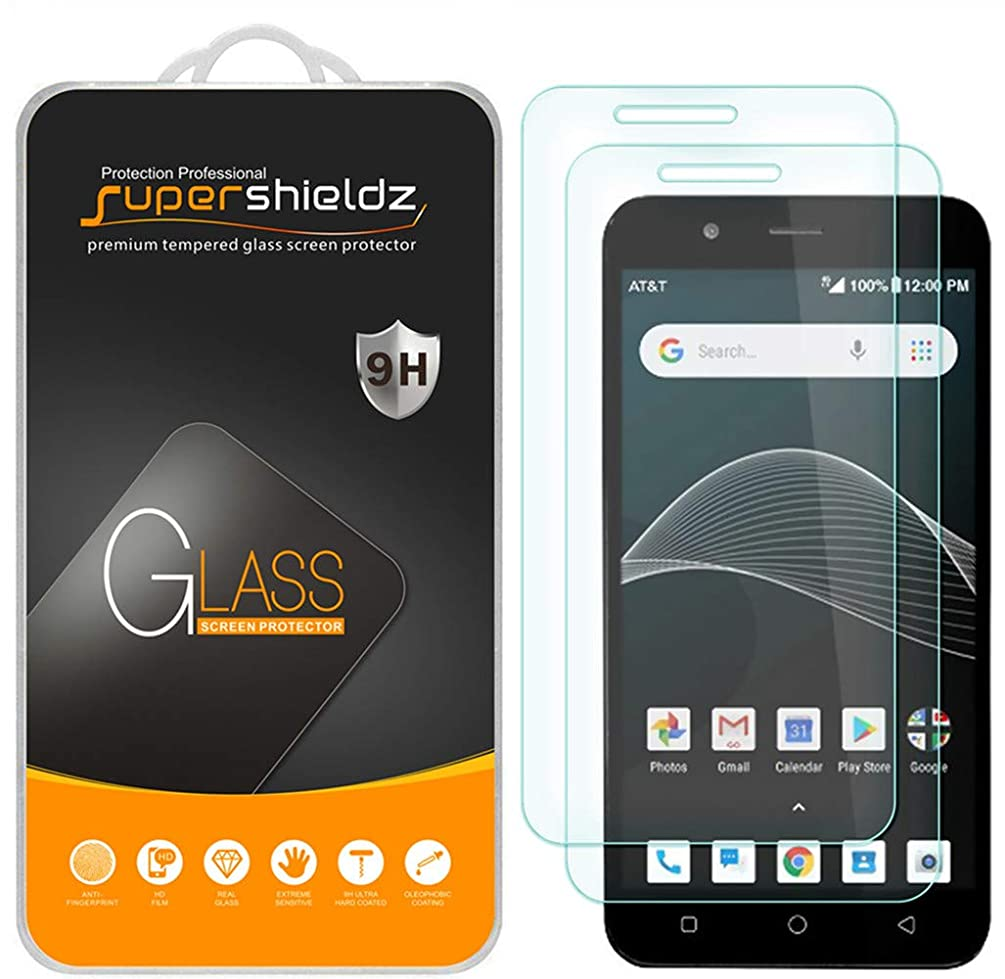 [2-Pack] Supershieldz for AT&T AXIA Tempered Glass Screen Protector, Anti-Scratch, Bubble Free, Lifetime Replacement