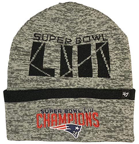 '47 New England Patriots Superbowl Champions Birch Cuff Knit Beanie