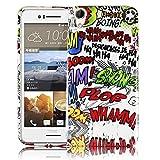 thematys Passend für HTC Desire 728G Comic HAHA Silikon Silikon Schutz-Hülle weiche Tasche Cover Case Bumper Etui Flip Smartphone Handy Backcover Schutzhülle Handyhülle