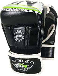 Chennie Sport Halbfinger-Sparring-Handschuhe Box-Trainingshandschuhe Fight Grapple Boxsack