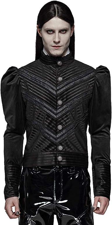 Punk Rave - Camisa de Terciopelo para Hombre, diseño gótico ...