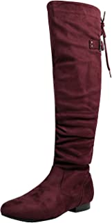 Best burgundy boots wide calf Reviews