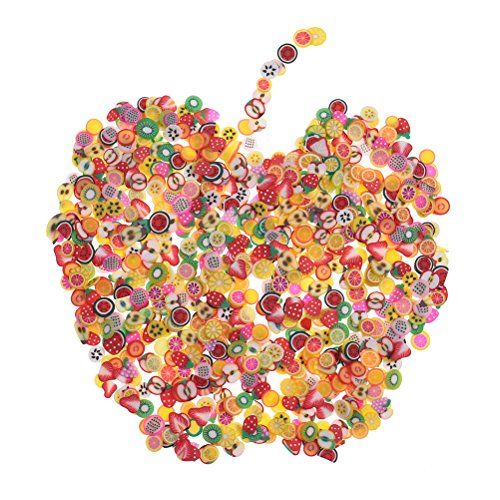 2000 Pcs Fruit Fimo Slices for Slime,DIY Crafts,polymer clay canes Nail Art Decorations Slices by HONGTIAN