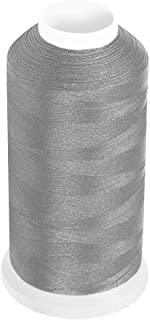Desirable Life Bonded Nylon N66 Sewing Thread 1500 Yards Size #69 T70 210D/3 for Leather Denim Hand Machine Craft Shoe Bag Repairing Extra Strong Heavy Duty UV Rays Resistant Waterproof (Silver)