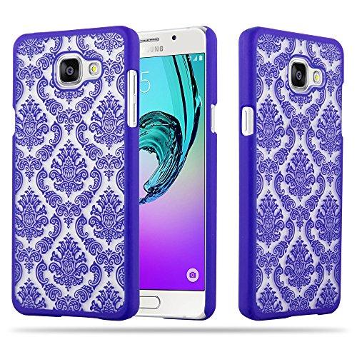 Cadorabo Samsung Galaxy A5 2016 Hardcase Hülle in LILA Blumen Paisley Henna Design Schutzhülle – Handyhülle Bumper Back Hülle Cover