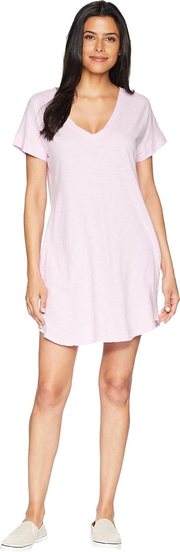 Allen Allen Womens Short Sleeve Vee Dress with Pockets