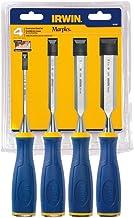 Irwin 1819361, Jogo de Formão para Madeira com 4 Peças, Azul/Amarelo e Prata