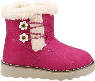 Twingo 9082 Kışlık Termal Kürklü Fermuarlı Kız Çocuk Bot Ayakkabı FUŞYA