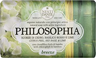 Nesti Dante Philosophia Natural Soap, Breeze/Citrus Peel/Red Basil and Lime With Chlorophyll and Bamboo, 8.8 Ounce