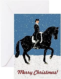 CafePress Snowy Dressage Horse Christmas Greeting Cards Greeting Card, Note Card, Birthday Card, Blank Inside Matte