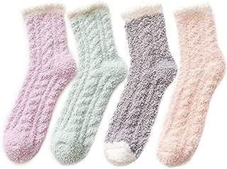 Fuzzy Warm Slipper Socks Women Super Soft Microfiber Cozy...