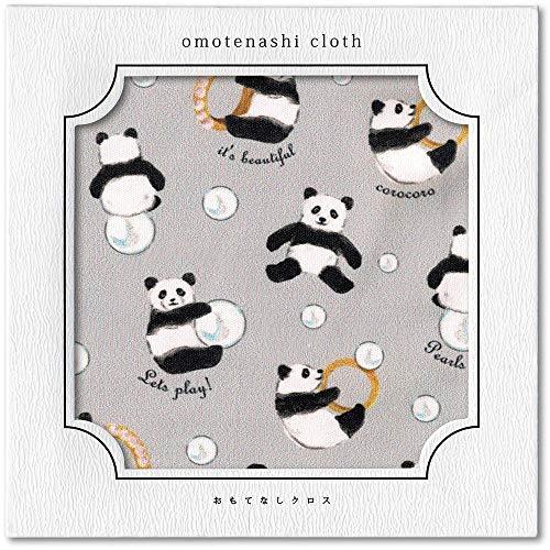 【3carat】おもてなしクロス パンダとパール スマホ拭き 眼鏡拭き マイクロファイバークロス