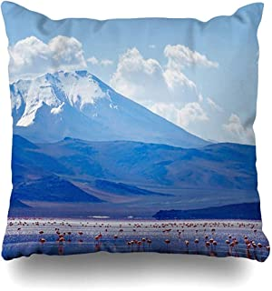 Throw Pillow Case View Blue Amazing Nature Bolivia Travel Snow Border Chili Clouds Cold Design Home Decor Pillow Cover Square Size 18x18 Inches Zippered Pillowcase