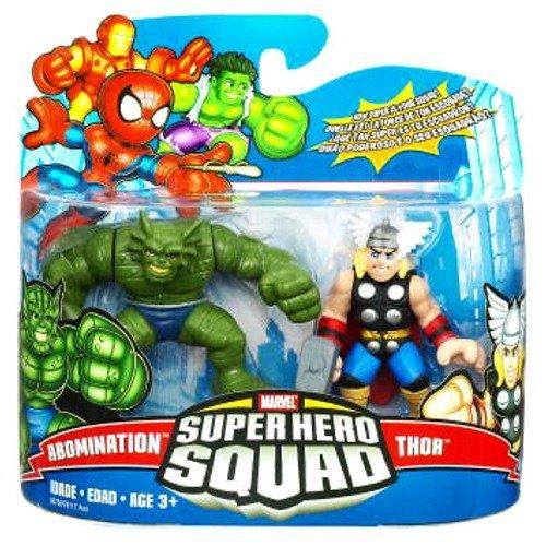 Marvel Super Hero Squad Action Figure 2-Pack - Abomination/Thor