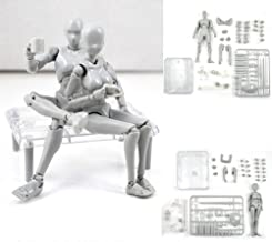Uranny Body Kun DX Set Male & Female Action Figure Model Set for SHF Body Kun Doll PVC Body-Chan DX Set 2.0 (1 Set-Action Figure Model)