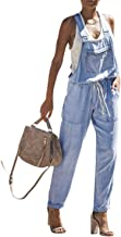 Dokotoo Womens Distressed Ripped Denim Skinny Jeans Jumpsuit Overalls