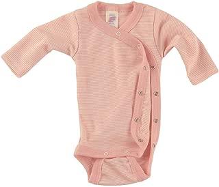 Engel Axil Baby body manga larga ringel lana y seda /ángel natural talla 50//56/-/110//116 2/colores hellgrau melange//eisvogel 50