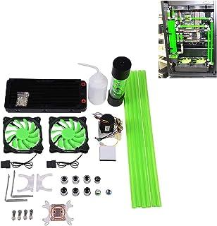 Kit de refrigeración de Agua para Ordenador con disipador de Calor de la CPU, disipador de Calor del Ventilador LED del depósito de la Bomba con Bloqueo CPU de 240 mm