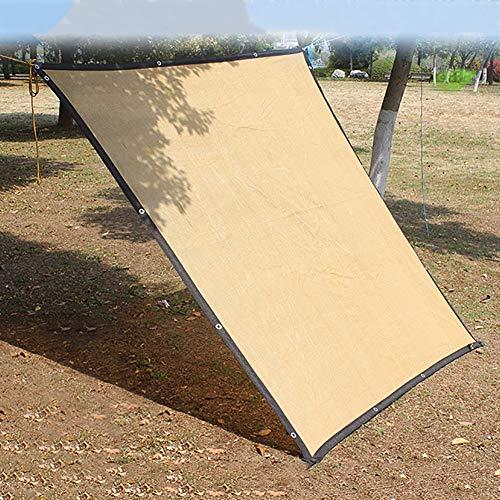 Filet d'ombrage Tissu Résistant D'ombre de Protection Solaire pour La Terrasse de Balcon de Toit de Camping, 88% Bord Net Résistant Aux UV avec Oeillets, Jaune (Size : 1×3m)