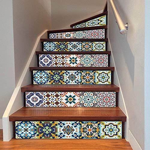 HAIMACX Fliesenaufkleber Treppen Aufkleber DIY Baseboard Küche Badezimmer Wasserdichte Fliese Art Deco