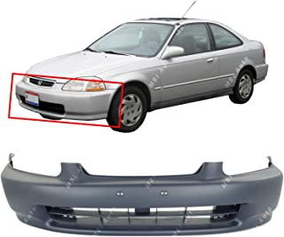 MBI AUTO - Primered, Front Bumper Cover Fascia for 1996 1997 1998 Honda Civic Coupe Sedan Hatchback 96 97 98, HO1000172