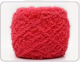 Ovillo de lana para tejer a mano (50 colores, 100 g, algodón y terciopelo), color coral, 12, the size, 1