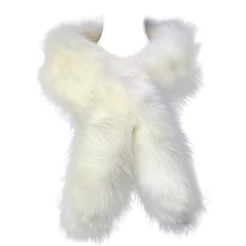 preordinare incontrare vero affare White Fur Scarf: Amazon.co.uk