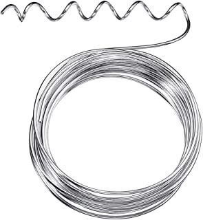 Soft and Flexible Metal Armature Wire for DIY Manual Arts and Crafts 1.5 mm Thickness 65.6 Feet Silver Aluminum Craft Wire