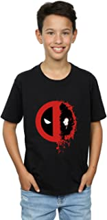 Marvel Boys Deadpool Split Splat Logo T-Shirt